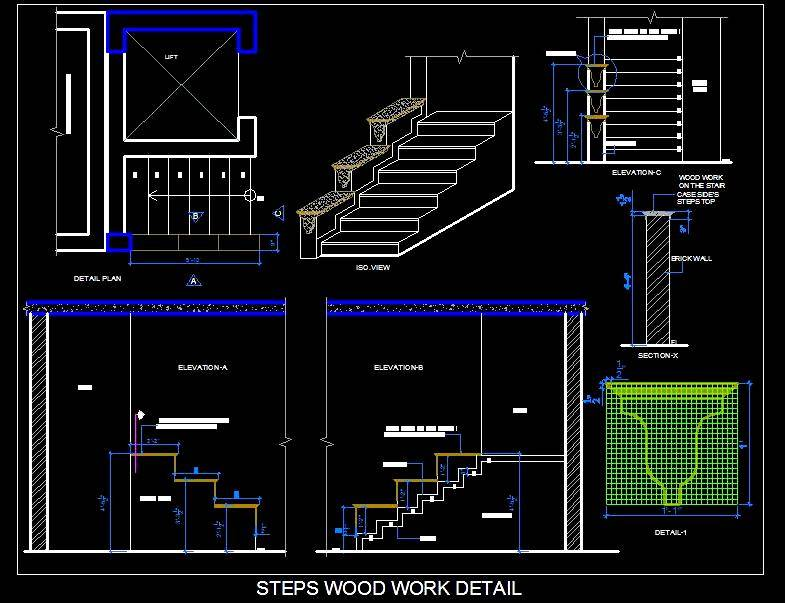 Open Staircase Wood Design Feature