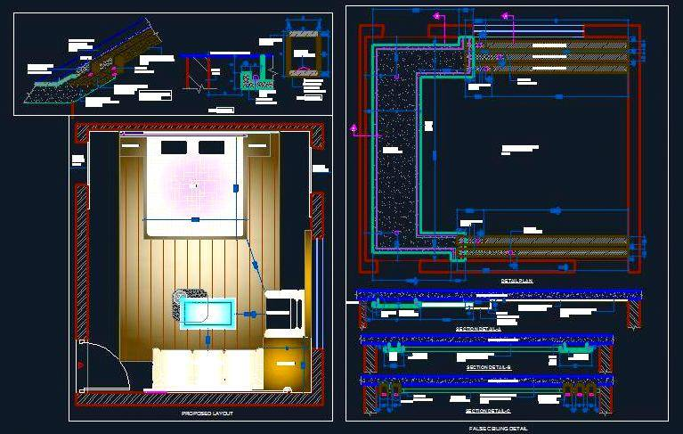 Bedroom False Ceiling Design Autocad Dwg Plan N Design