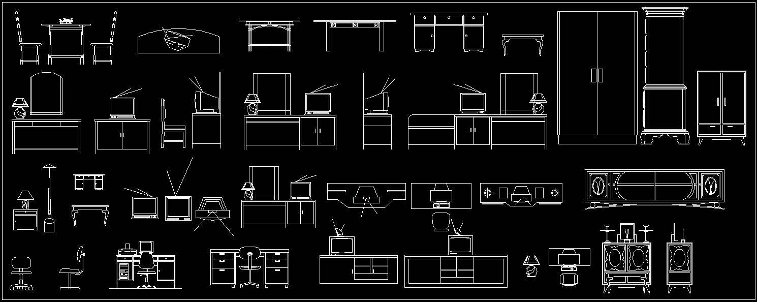 Various Cabinets Autocad Block