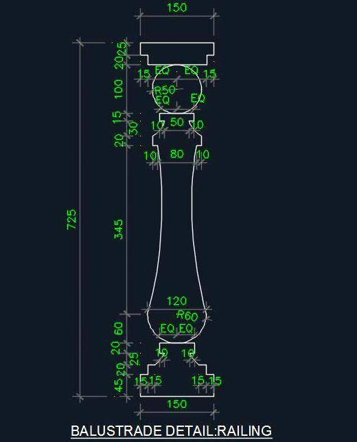 Architectural Column Design - Autocad DWG | Plan n Design