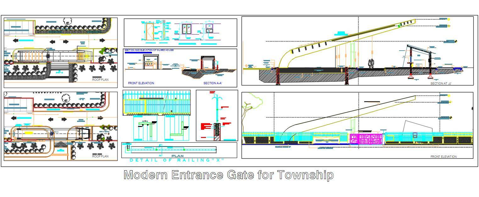 Modern Entrance Gate for Township
