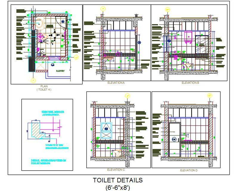 Toilet Design Detail (6'-6x8')