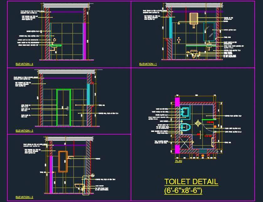 Toilet Design Detail (6'-6x8'-6)
