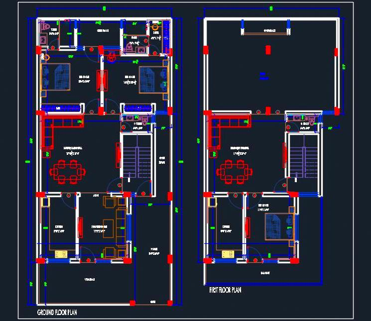 House Space Planning 30'x65'