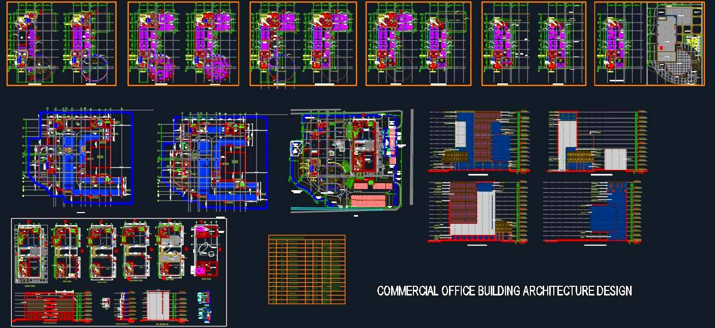 Commercial Office Building Architecture Design Dettail