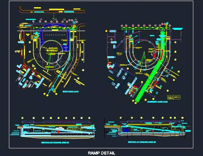 Parking Ramp Design Detail - Autocad DWG | Plan n Design