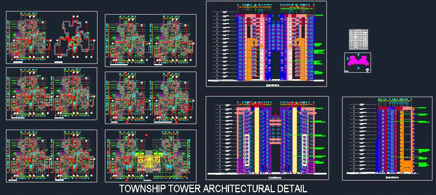 Township Tower Architecture Detail