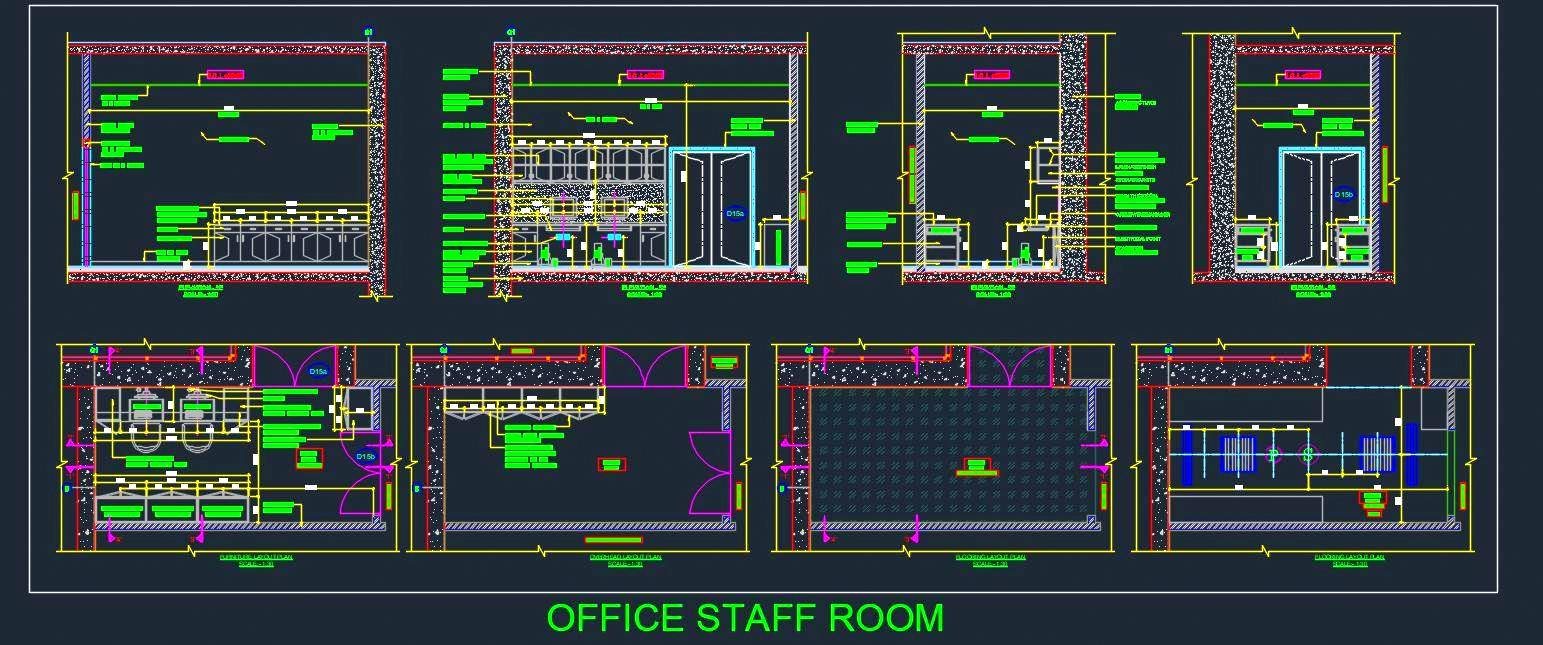 Office Staff Room Detail Drawing