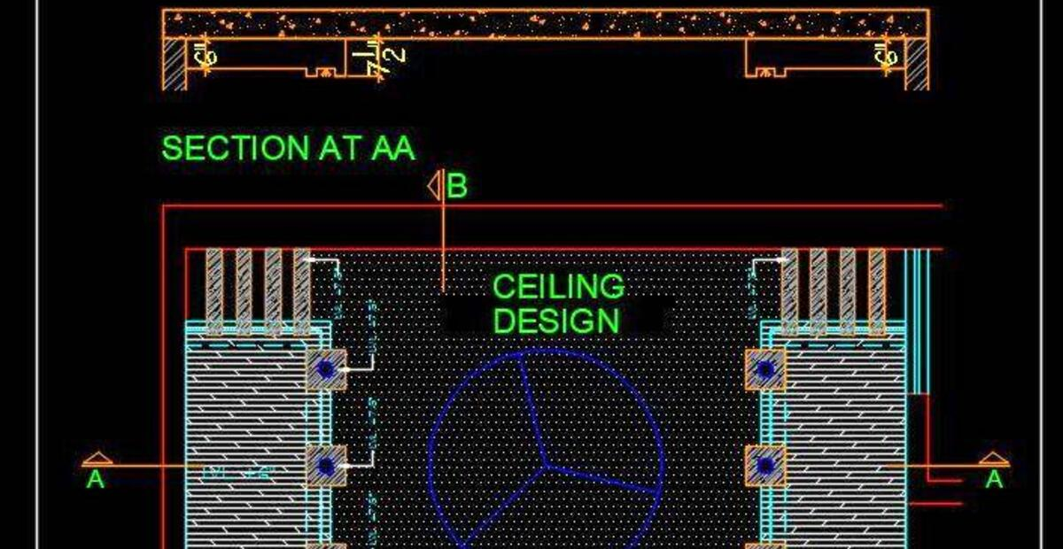 Bedroom False Ceiling Autocad Drawing Free Download ...