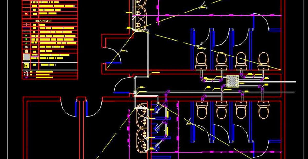 Public Toilet Plumbing Detail Plan Dwg Free Download Autocad Dwg Plan N Design