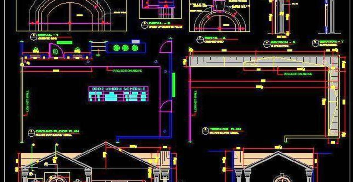 Sloped Roof House Elevation Autocad Dwg Plan N Design