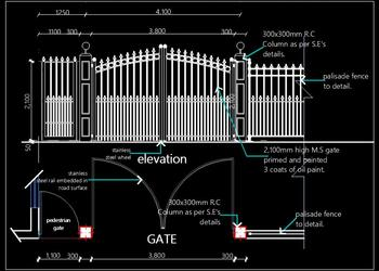 M.S. Main Entrance Gate Design dwg Details