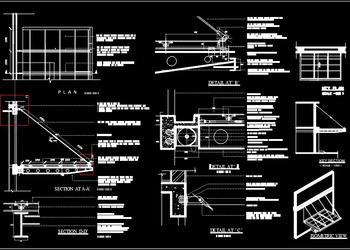 Steel Cantilevered Canopy dwg details