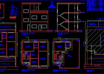 Submission Drawing of Residential Building (30'x50') DWG File