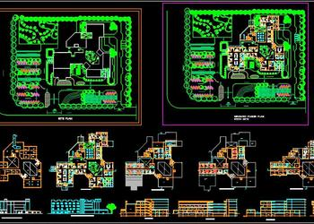 Eye Care Hospital Architecture Floor Layout Plan DWG File Download