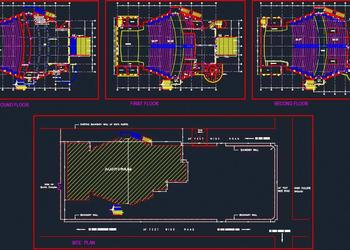 Auditorium Architecture Design Detail DWG File Download