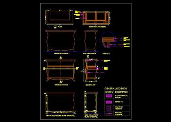 Cash Counter Table Design DWG Free Download