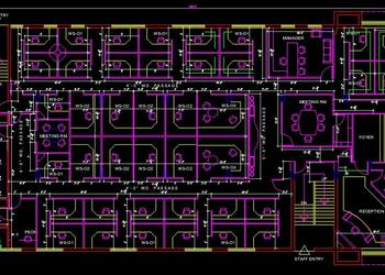 Corporate Office Interior Layout Plan