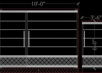 Entrance Gate of House in Elevation Cad Block