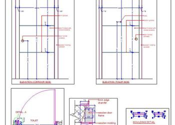 Flush Door Detail Cad Drawing