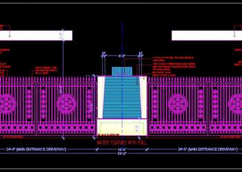 Main Entrance Gate Detail Cad Design