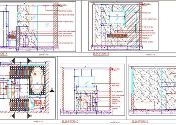 Master Bathroom Design cad drawing