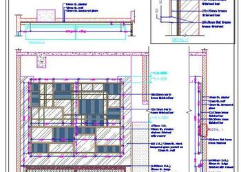 Modern Design Interior Feature Wall Cad Design Detail