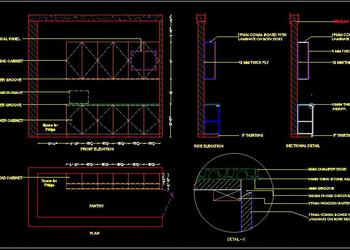 Office Pantry Design Drawing DWG Free Download