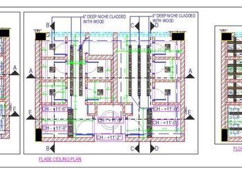 Public Toilet Block Top Plan Cad File