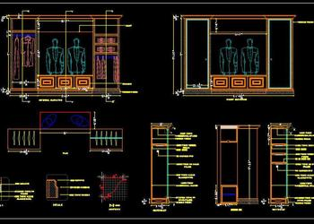 Wardrobe Detail Cad Drawing DWG File