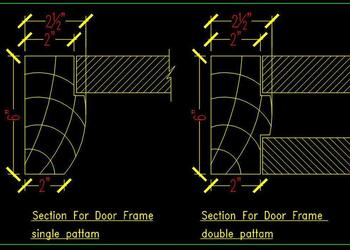 Wooden Door Frame Detail DWG