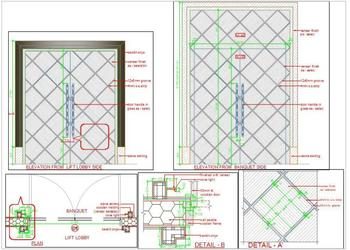 Wooden Main Door Design Cad Detail