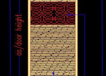 Engraved Jali Design Door Cad Block Free DWG Download