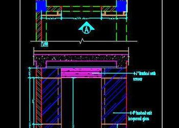 Lift Wall Cladding Design Free DWG Download