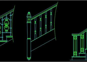 Railing Cad Block Design Free Download