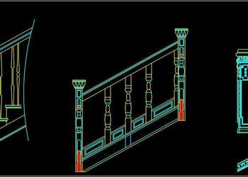 Railing Cad Block Free Download