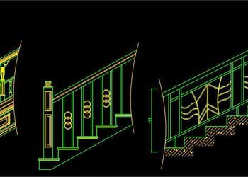 Railing Design DWG Block Free Download