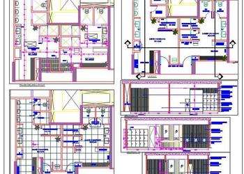 Swimming Pool Changing Room DWG Design Detail