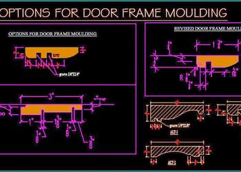 Wooden Door Frame Moulding Detail DWG