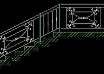 Wrought Iron Railing Free Cad Block DWG File