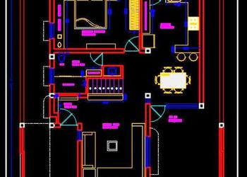 Autocad House Plan Drawing Download 40'x50'