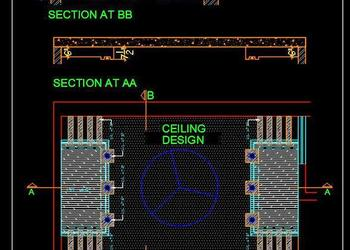 Bedroom False Ceiling Autocad Drawing Free Download