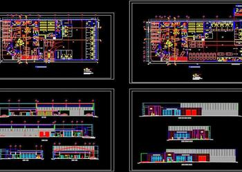 Car Showroom and Workshop Design DWG Floor Plan