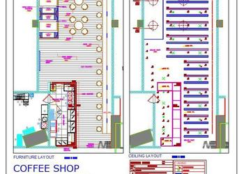 Coffee Shop Floor Plan dwg Autocad File