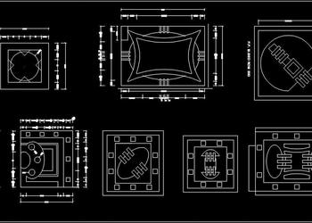 False Ceiling Design Autocad blocks dwg free download