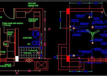 Hotel Guest Room Furniture Layout Plan Free Download Autocad Drawings dwg