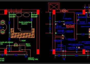 Hotel Guest Room Interior Floor Layout Plan Free Download Autocad Drawings dwg