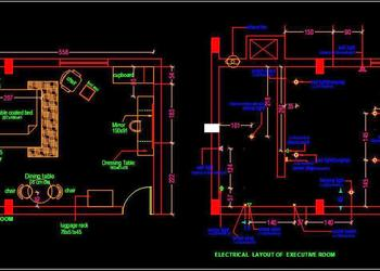 Hotel Guest Room Interior Floor Plan Autocad Drawing free download
