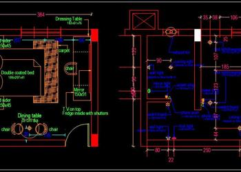 Hotel Guest Room Interior Floor Plan Free Download Autocad Drawings dwg