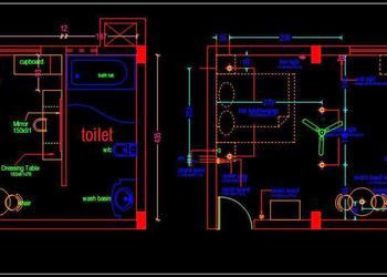 Hotel Guest Room Interior Layout Plan Autocad Drawing free download
